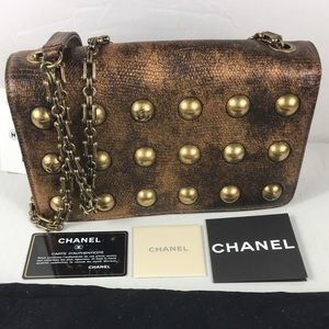 🔥LIKE NEW CHANEL BRONZE GORGEOUS GOLD CROSSBODY